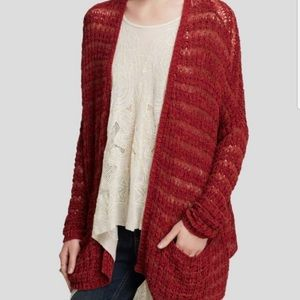 Free People Last Night Striped Long Sleeve Cardigan with Pockets